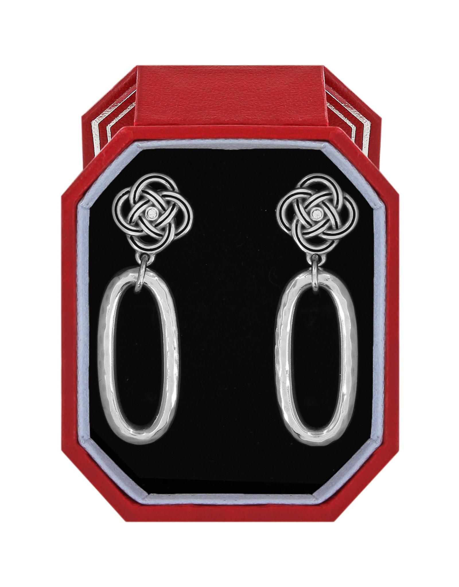 Brighton Interlok Petite Knot Post Drop Earrings Gift Box