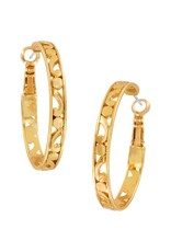 Brighton Contempo Medium Hoop Earrings Gold