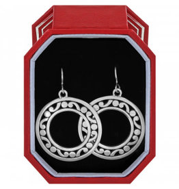 Brighton Contempo Open Ring French Wire Earrings Gift Box