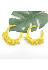 Treasure Jewels Earring Coral Yellow