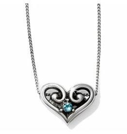 Brighton Alcazar Heart Crystal Necklace