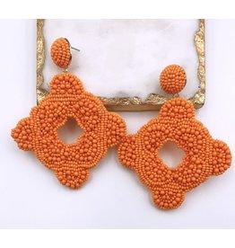Treasure Jewels Earring Cartagena Orange