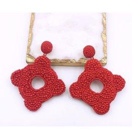 Treasure Jewels Earring Cartagena Red
