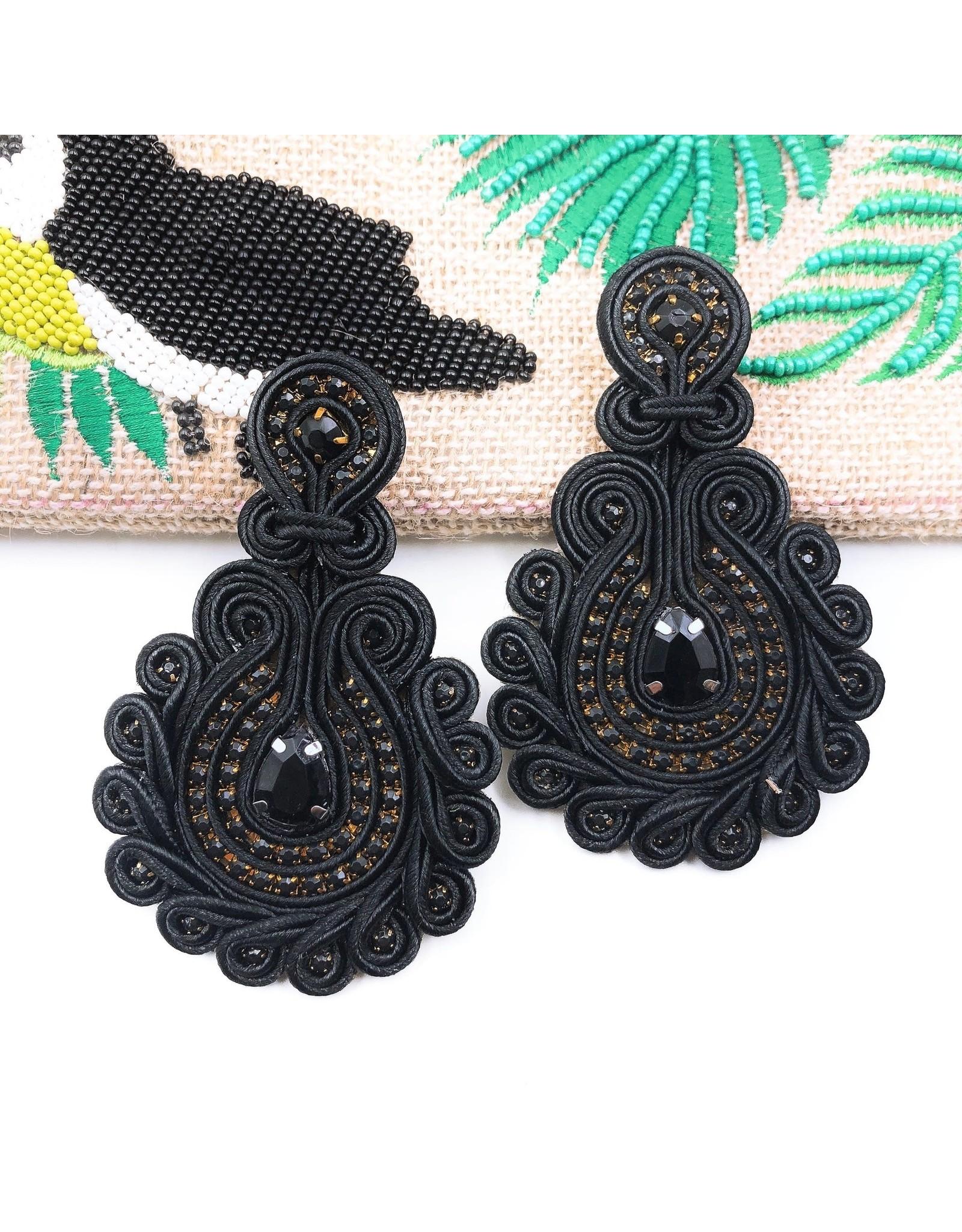 Treasure Jewels Earring Debbie Black
