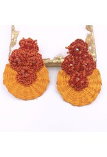 Treasure Jewels Earring Iraca Orange