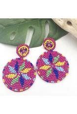 Treasure Jewels Earring Wayuu Pink