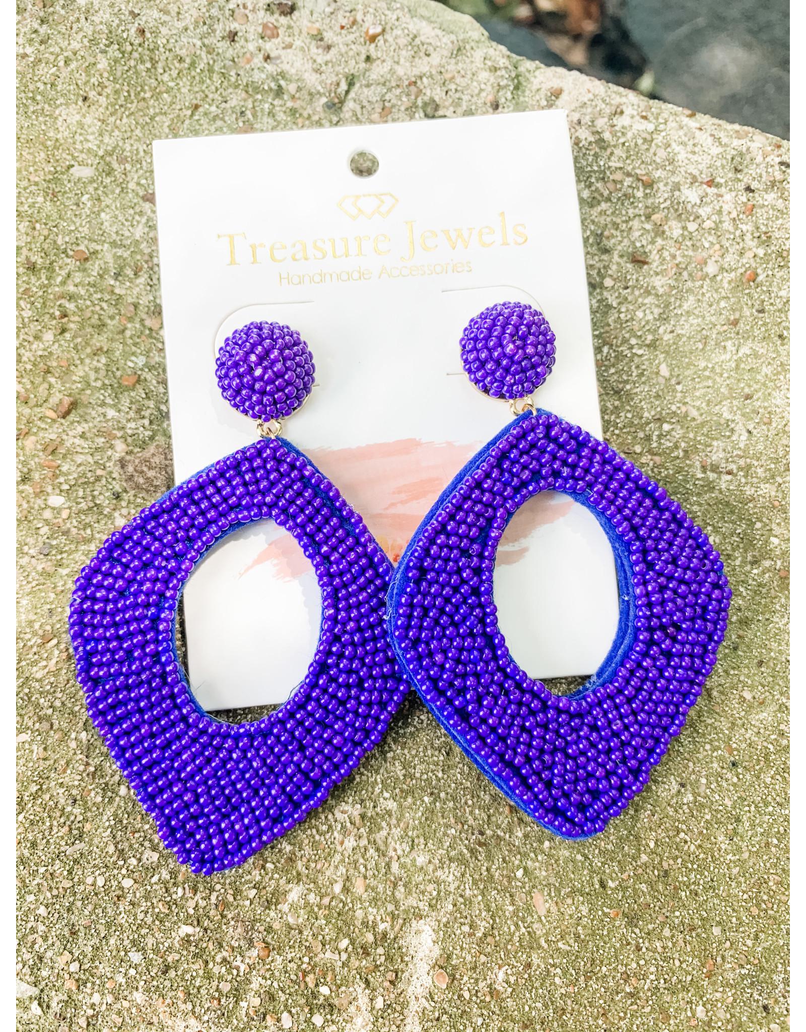 Treasure Jewels Earring Karen Cobalt