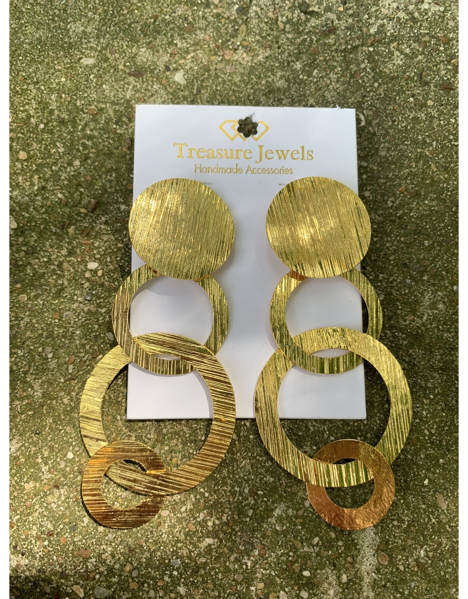 Treasure Jewels Earring Gold Circles