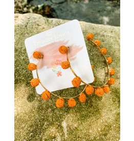 Treasure Jewels Earring Orange Hoop