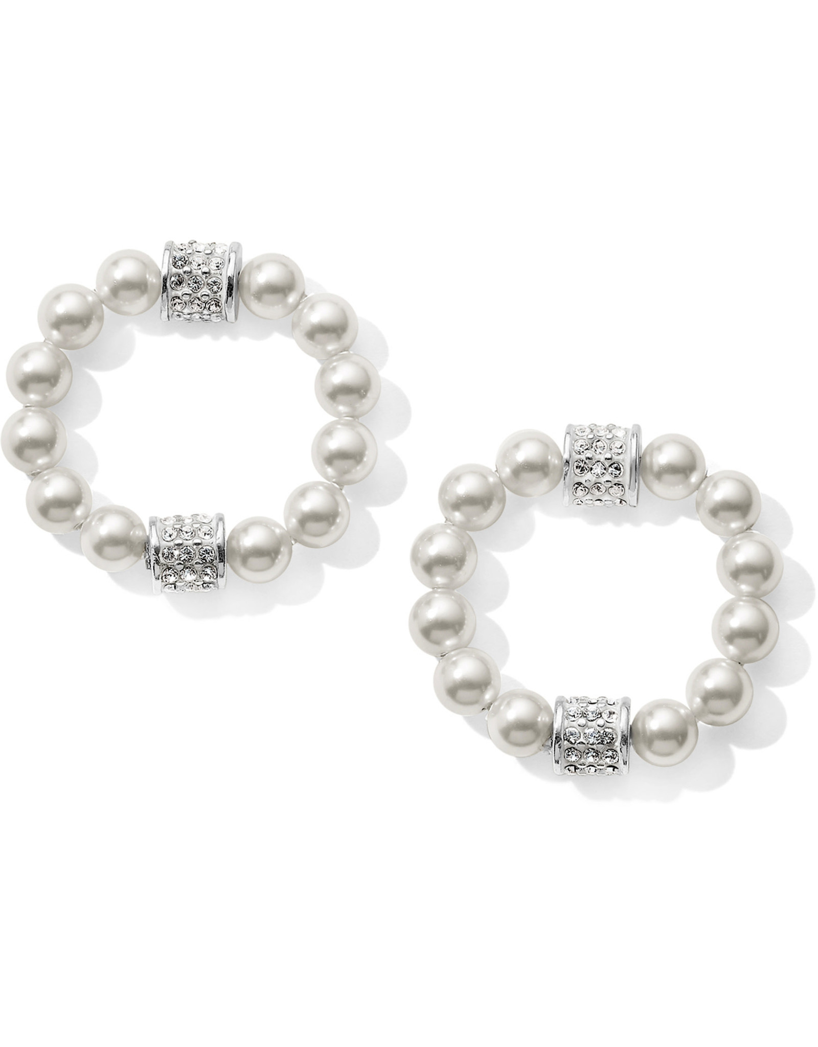 Brighton Meridian Pet Pearl Hoop Drop Earrings
