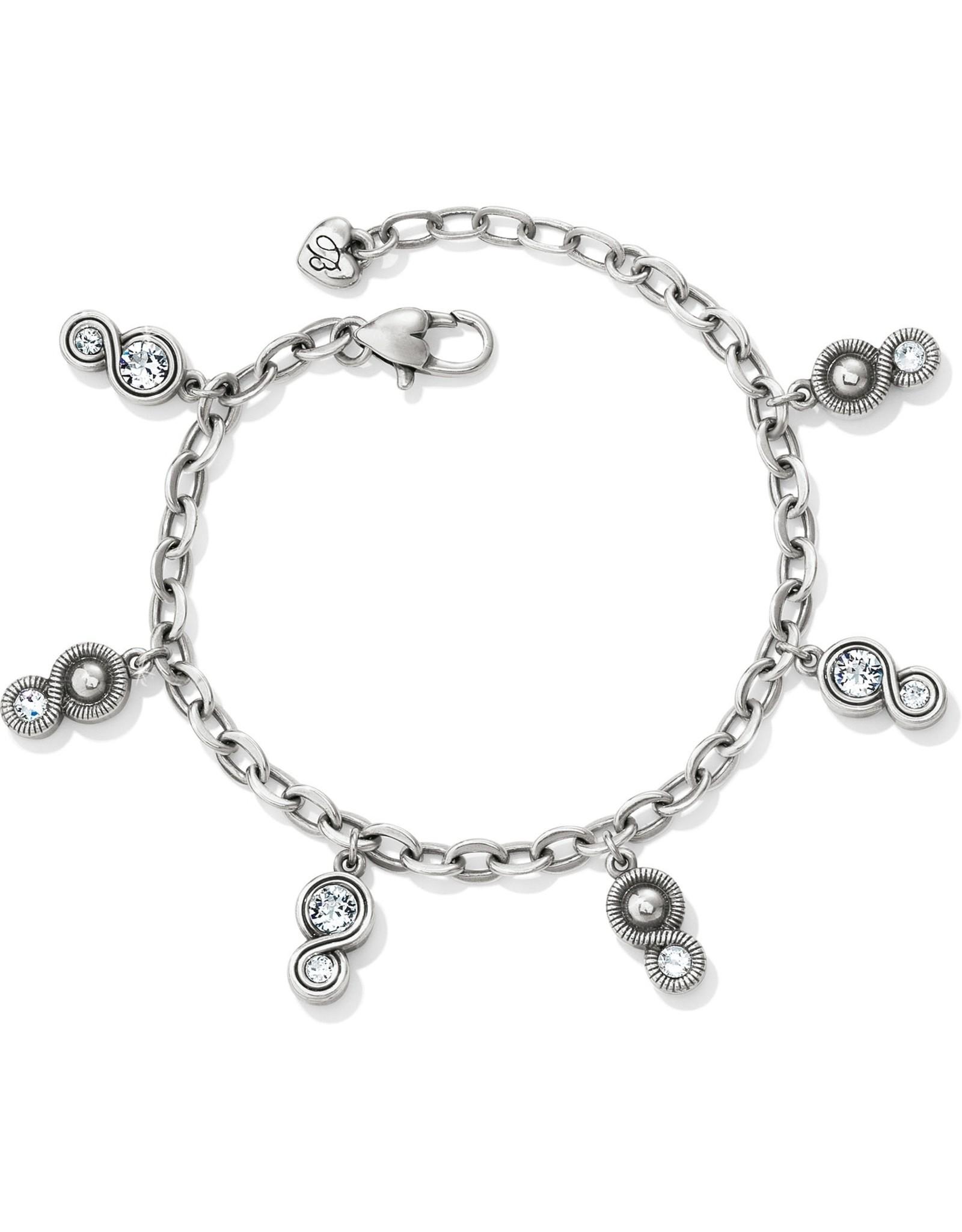 Brighton Infinity Sparkle Charm Bracelet