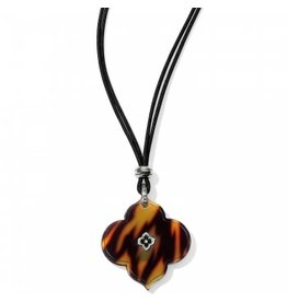 Brighton Toledo Alto Tortoise Slider Necklace