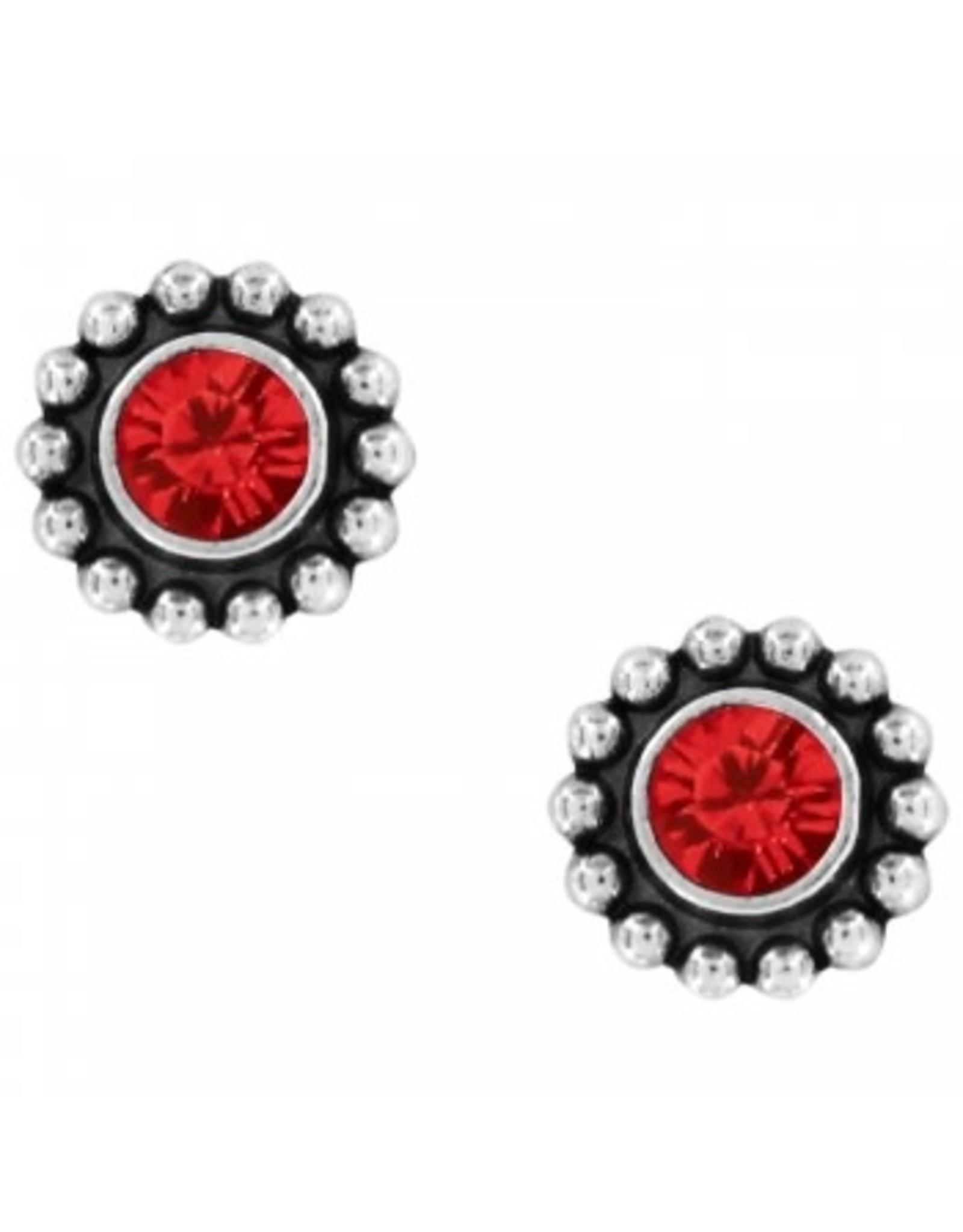 Brighton Twinkle Mini Post Ruby Earrings