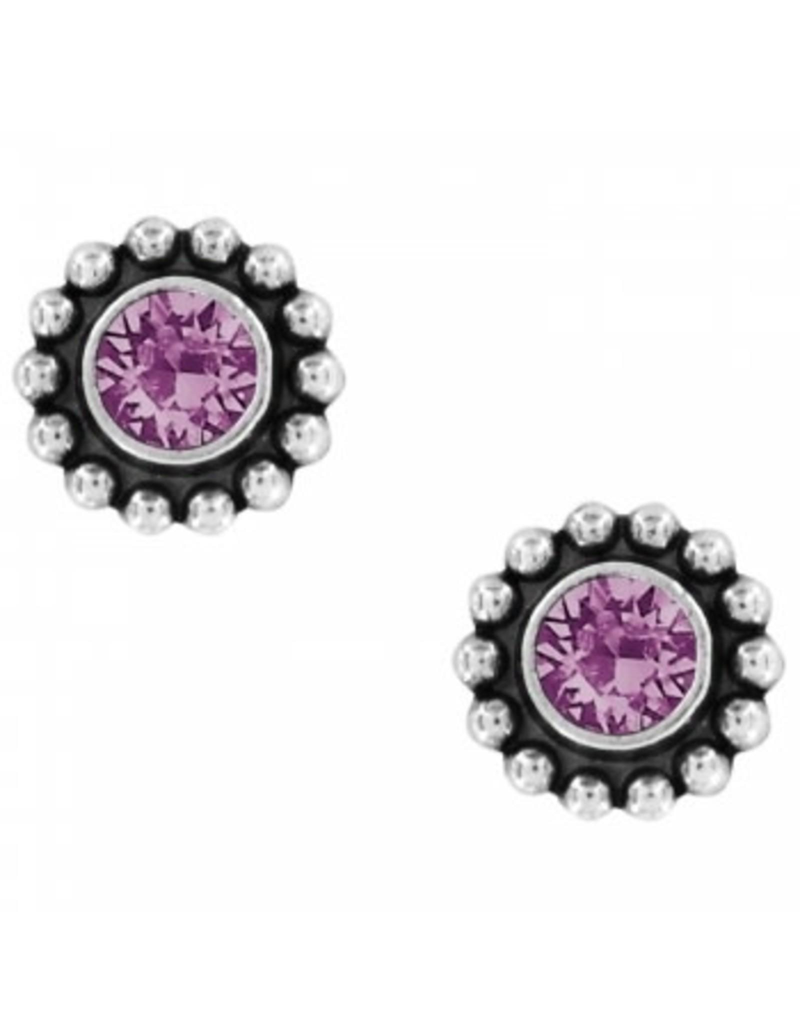 Brighton Twinkle Mini Post Amethyst Earrings
