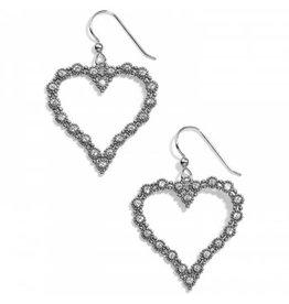 Brighton Twinkle Splendor Heart French Wire Earrings