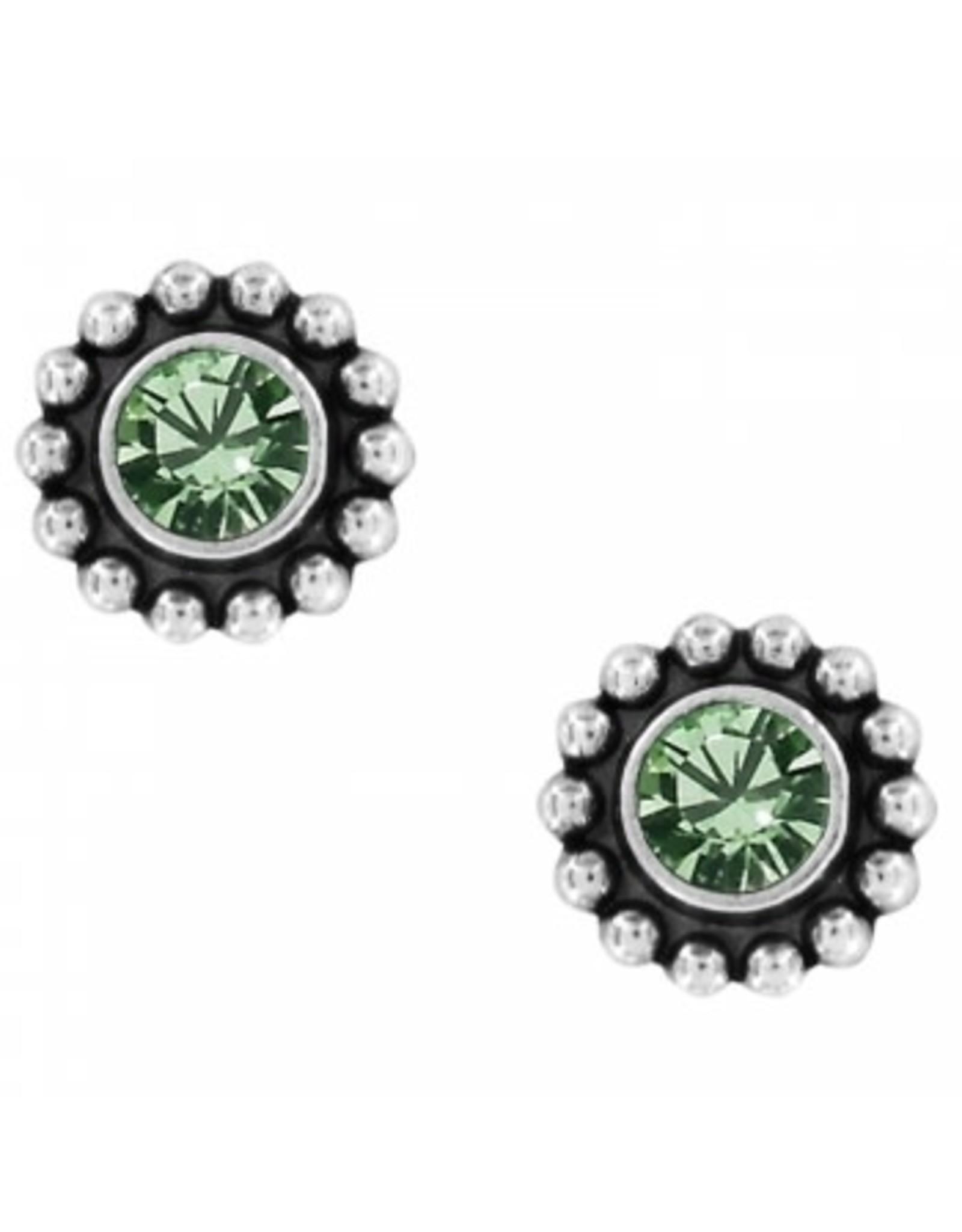 Brighton Twinkle Mini Post Peridot Earrings