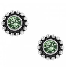 Brighton Twinkle Mini Post Peridot Earrings