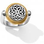 Brighton Ferrara Two Tone Reversible Ring Size 9