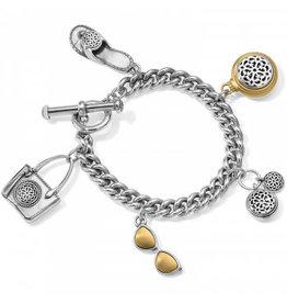 Brighton Ferrara Two Tone Toggle Charm Bracelet