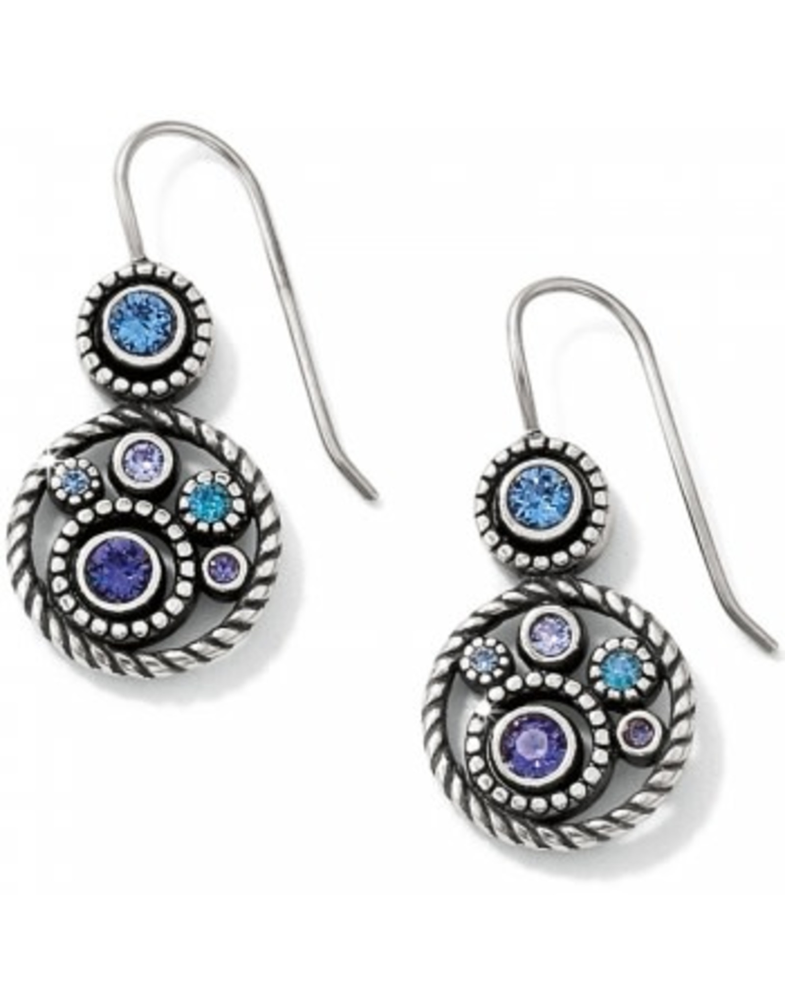 Brighton Halo French Wire Earrings Tanzanite