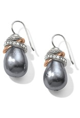 Brighton Neptunes Rings Gray Pearl French Wire Earrings