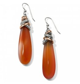 Brighton Neptunes Rings Pyramid Carnelian French Wire Earrings