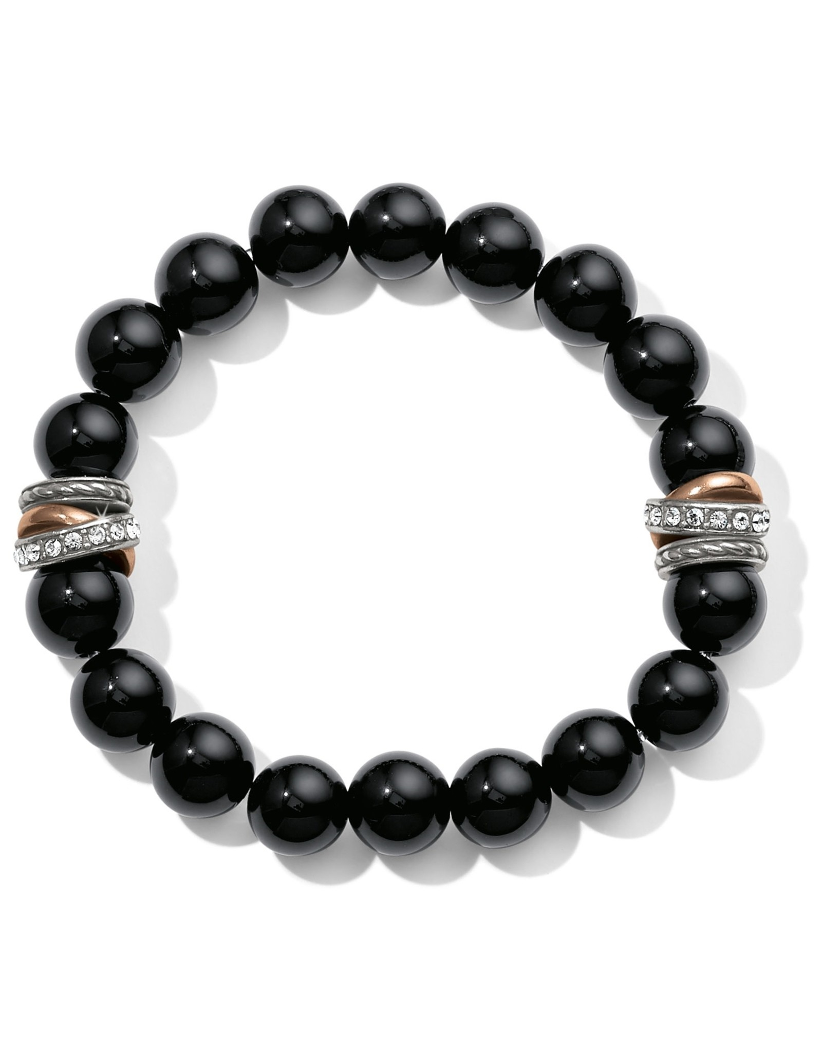 Brighton Neptunes Rings Black Agate Stretch Bracelet