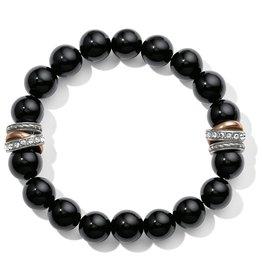 Brighton Neptunes Rings Black Agate Stretch Bracelet