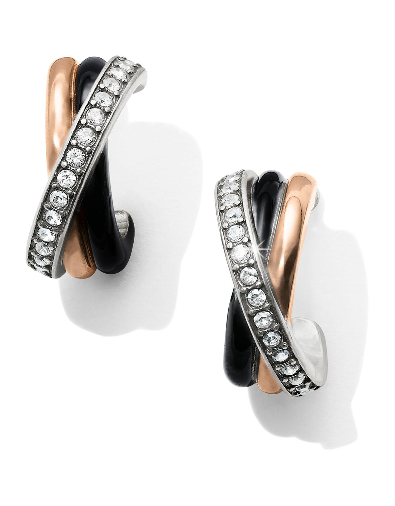 Brighton Neptunes Rings Black Post Clip Earrings
