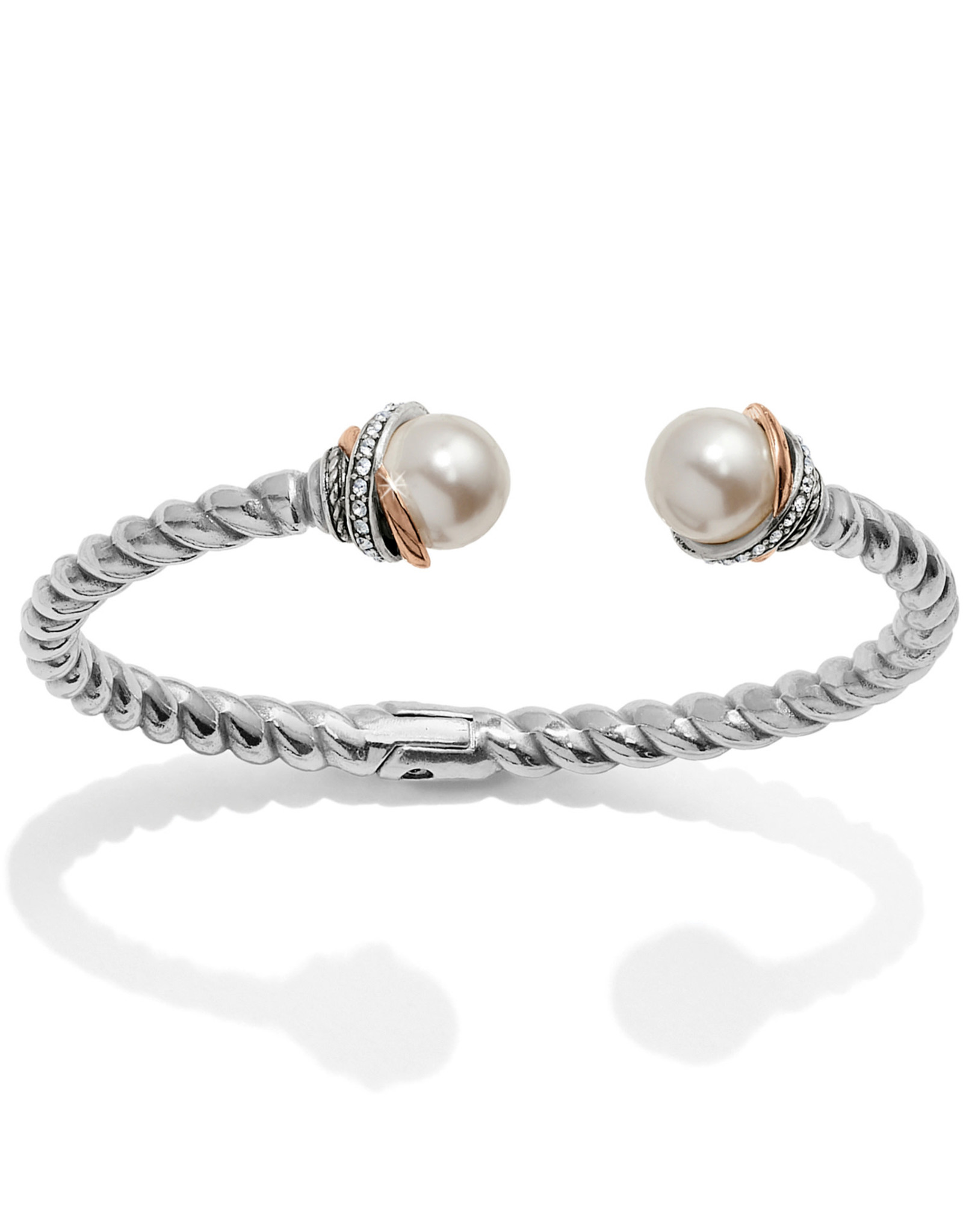 Brighton Neptunes Rings Pearl Open Hinged Bangle
