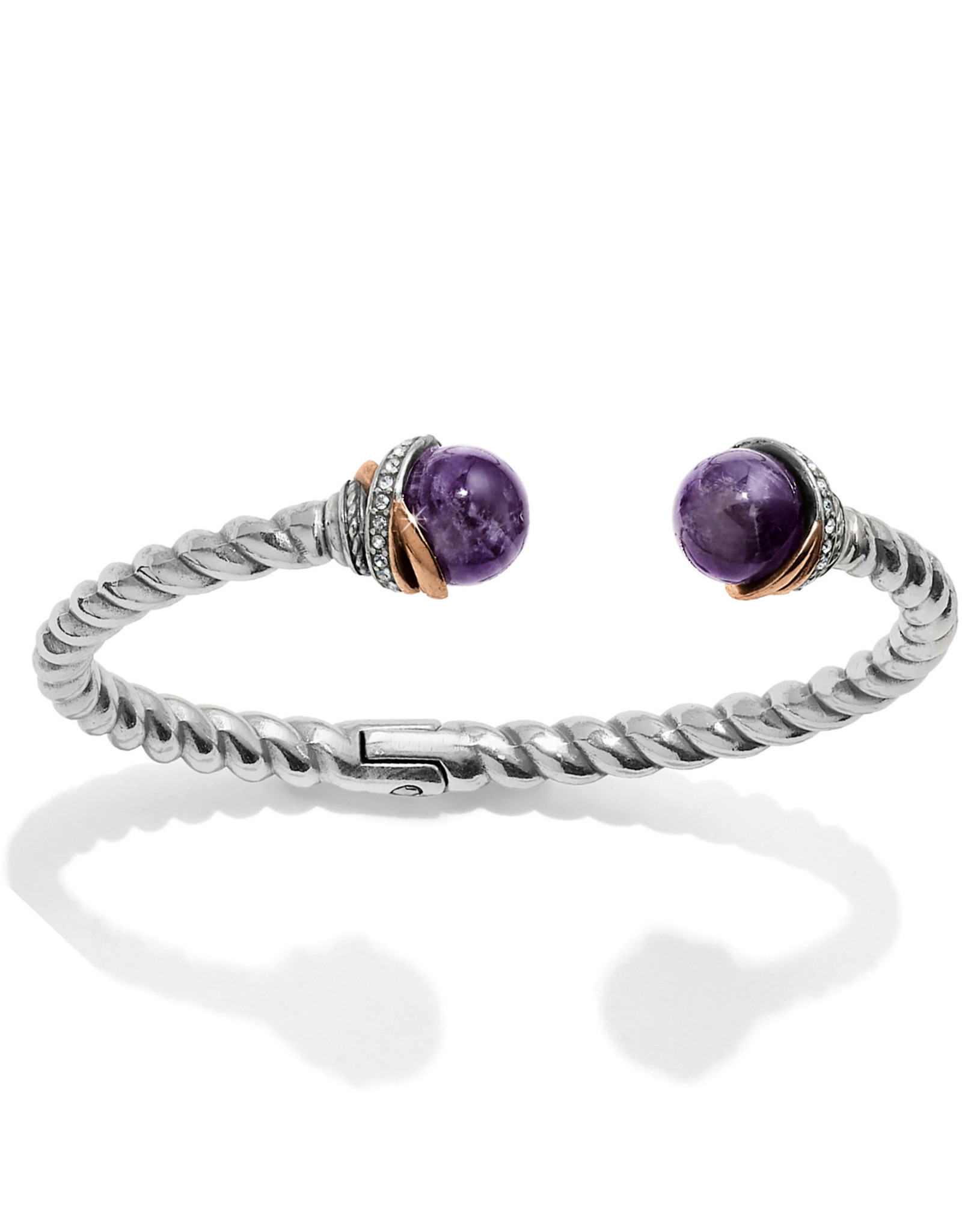 Brighton Neptunes Rings Amethyst Open Hinged Bangle