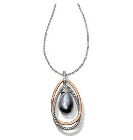 Brighton Neptunes Rings Gray Pearl Pendant Necklace