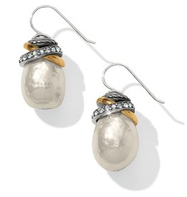 Brighton Neptunes Rings Pearl French Wire Earrings