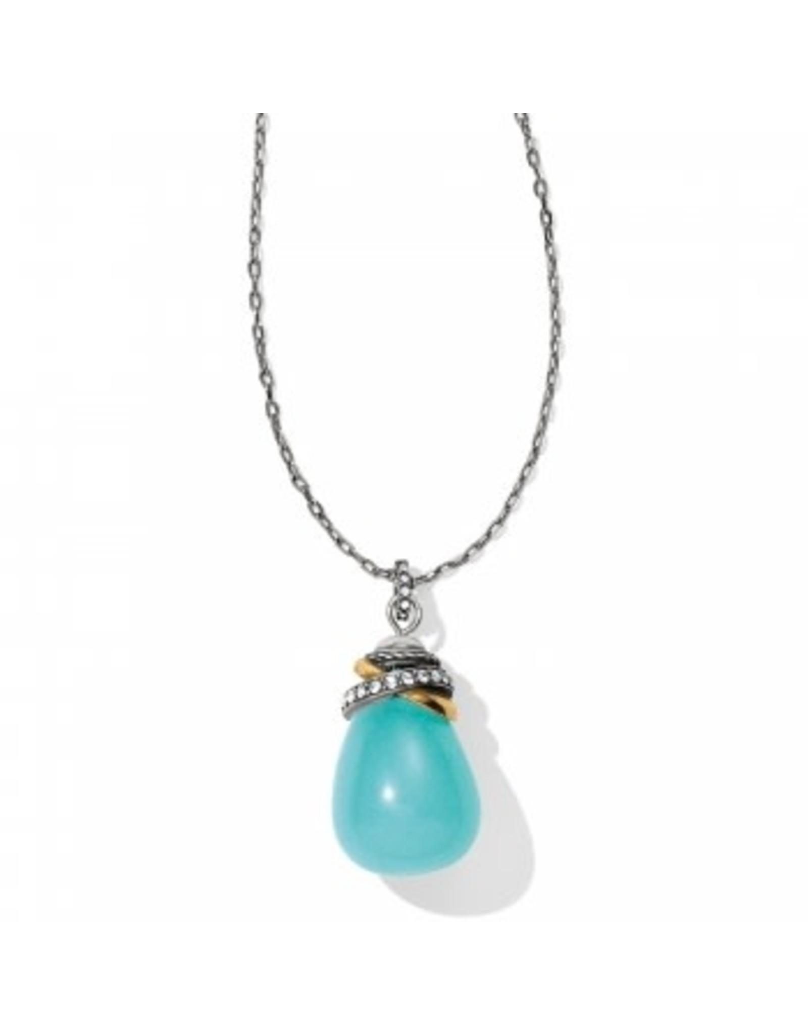Brighton Neptunes Rings Quartz Aqua Stone Necklace