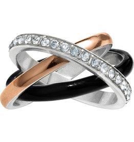 Brighton Neptunes Rings Black Trio Ring Size 07