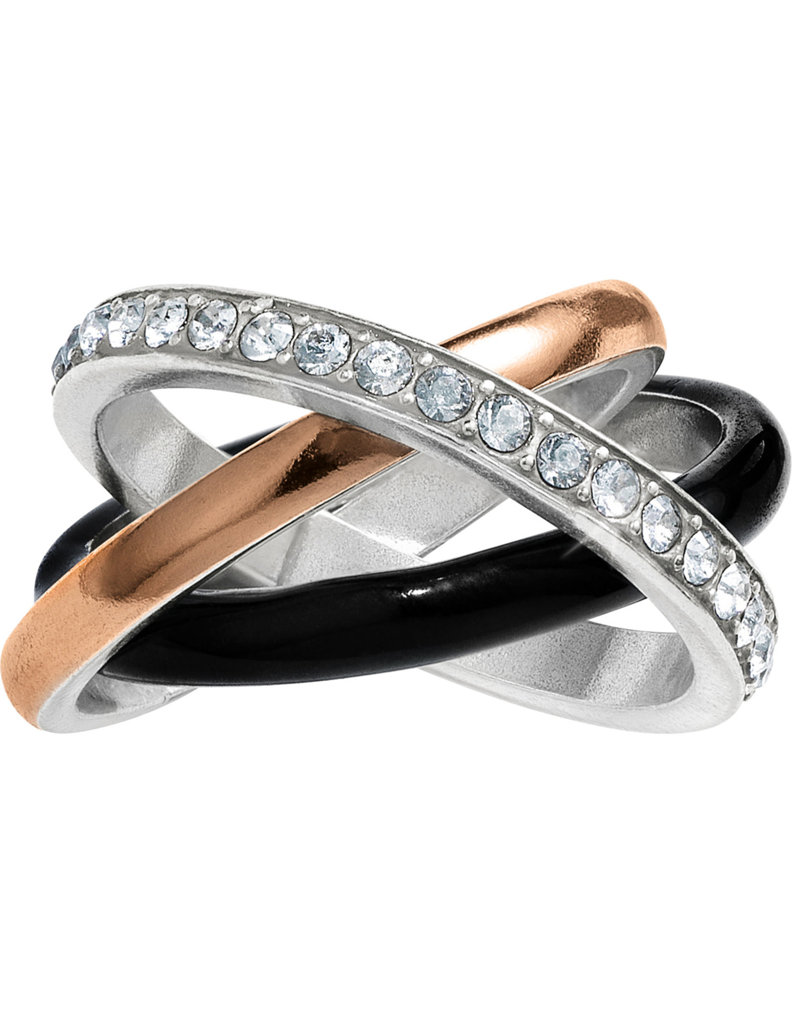 Brighton Neptunes Rings Black Trio Ring Size 08