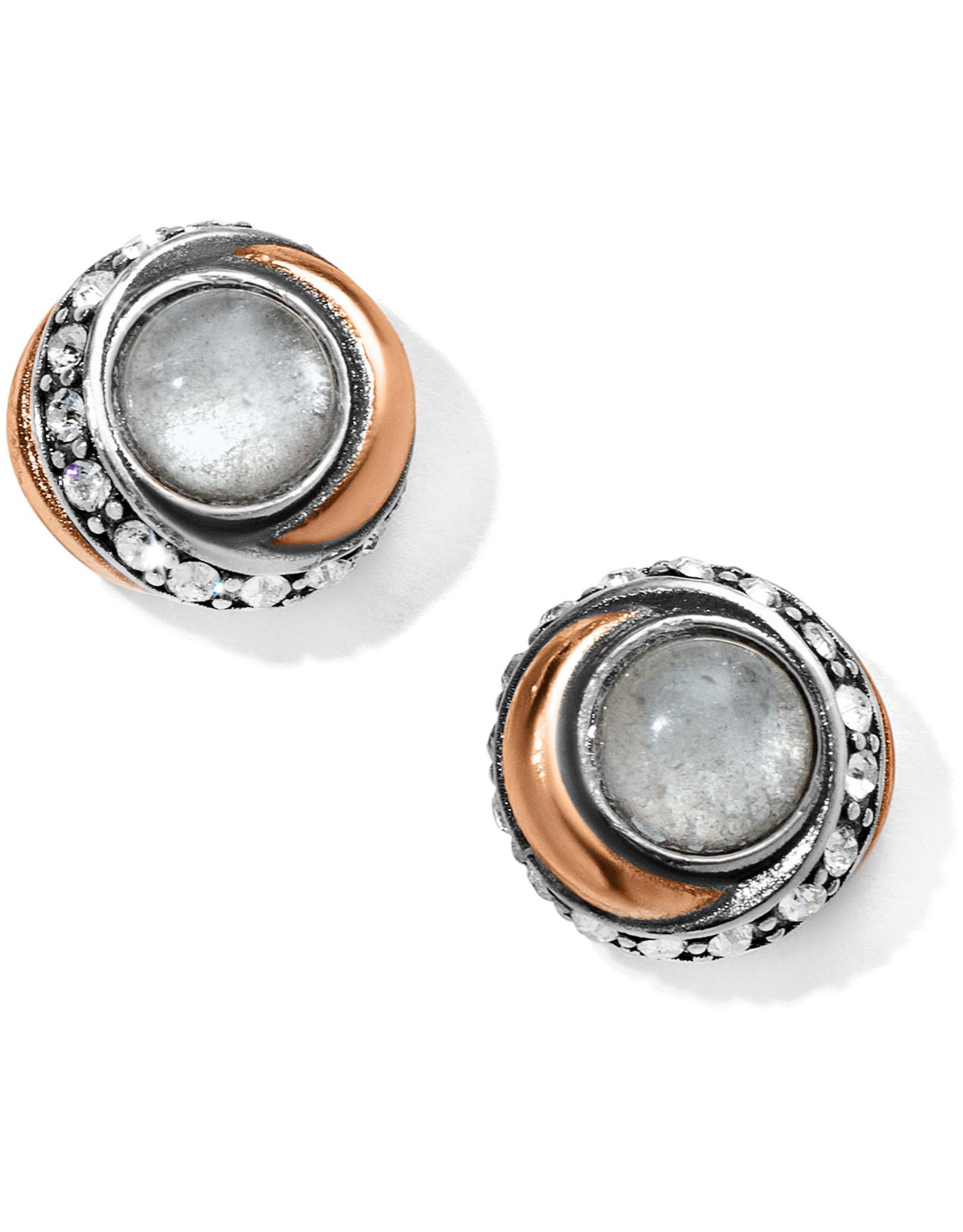 Brighton Neptunes Rings Crystal Button Earrings
