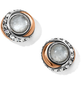 Brighton Neptunes Rings Crystal Button Earrings