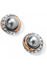 Brighton Neptunes Rings Gray Pearl Button Earrings