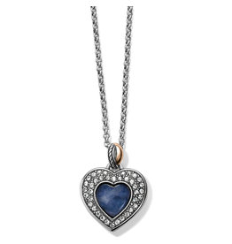 Brighton Neptunes Rings Brazile Blue Quartz Heart Reversible Necklace