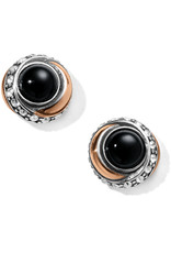 Brighton Neptunes Rings Black Agate Button Earrings