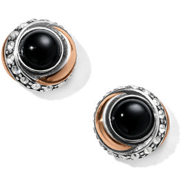 Brighton Neptunes Rings Black Agate Button Earrings