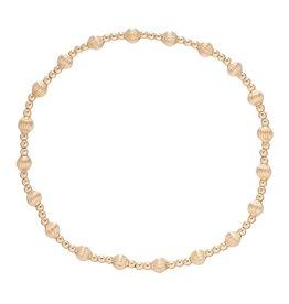 Dignity Sincerity Pattern 4mm Bead Brace Gold