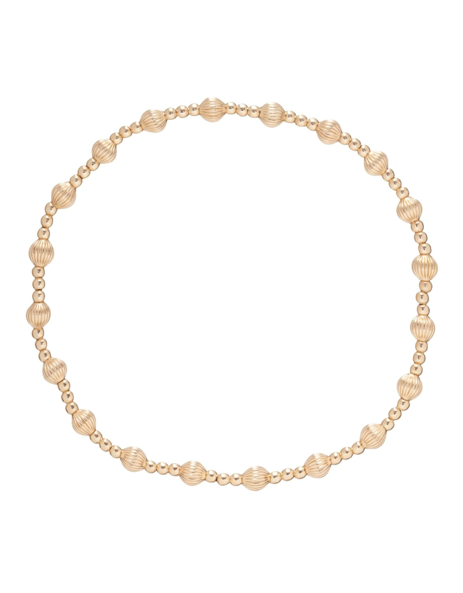 Dignity Sincerity Pattern 6mm Bead Brace Gold