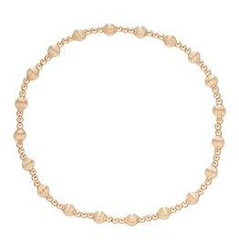 Dignity Sincerity Pattern 6mm Bead Brace Gold