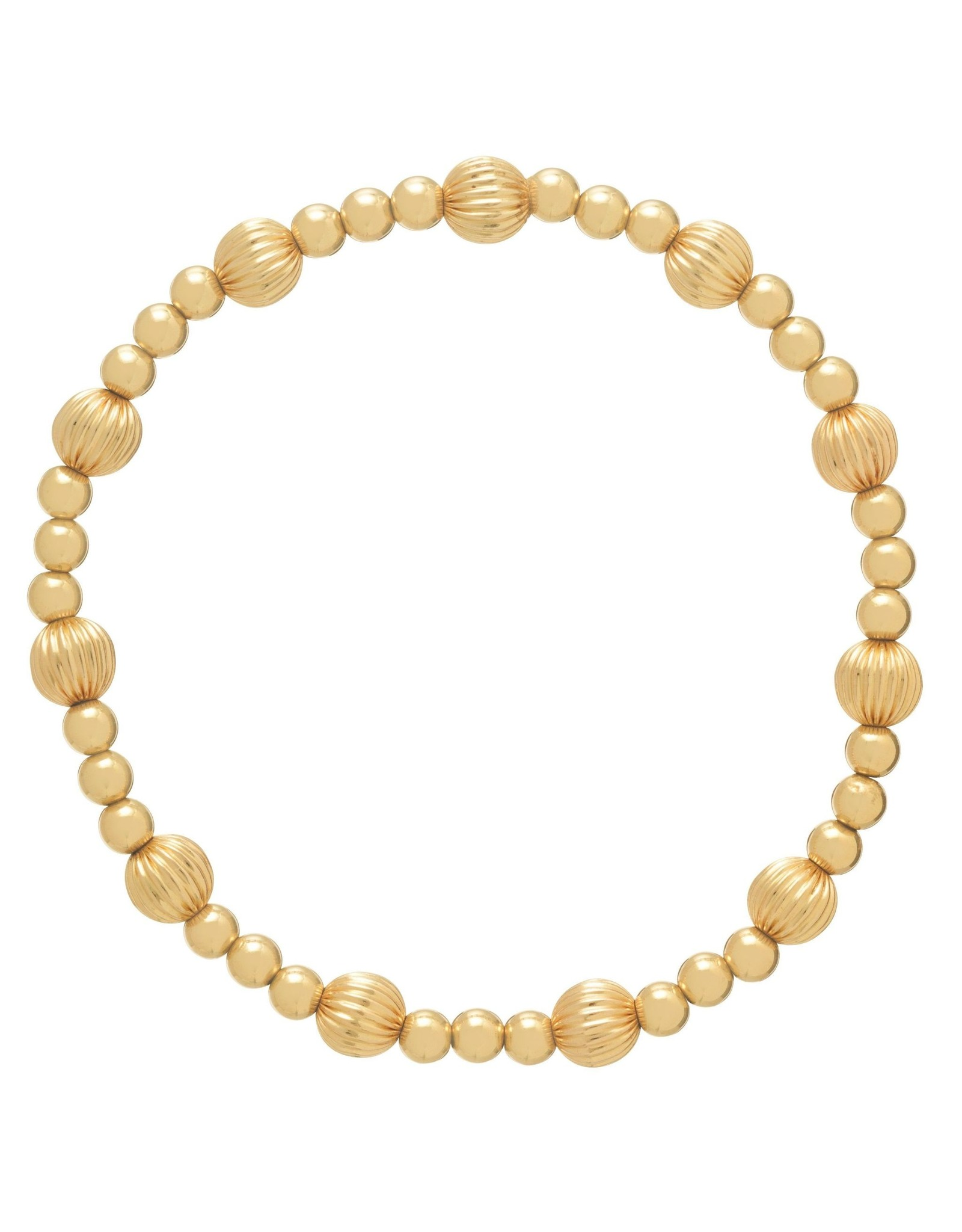 Extends Dignity Gold Sincerity Pattern 6mm Bead Brace