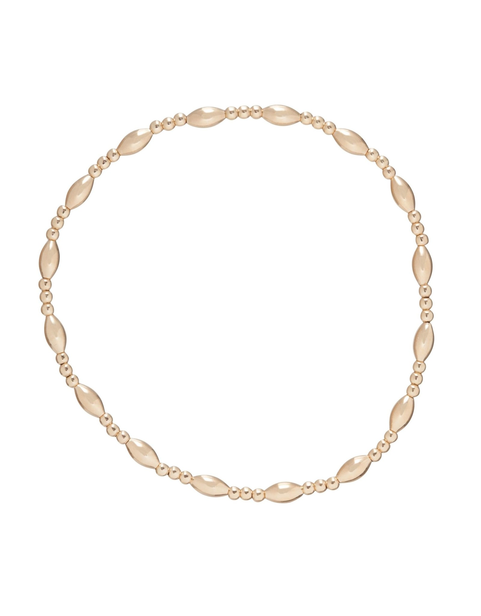 Harmony Sincerity Pattern 2mm Bead Brace Gold