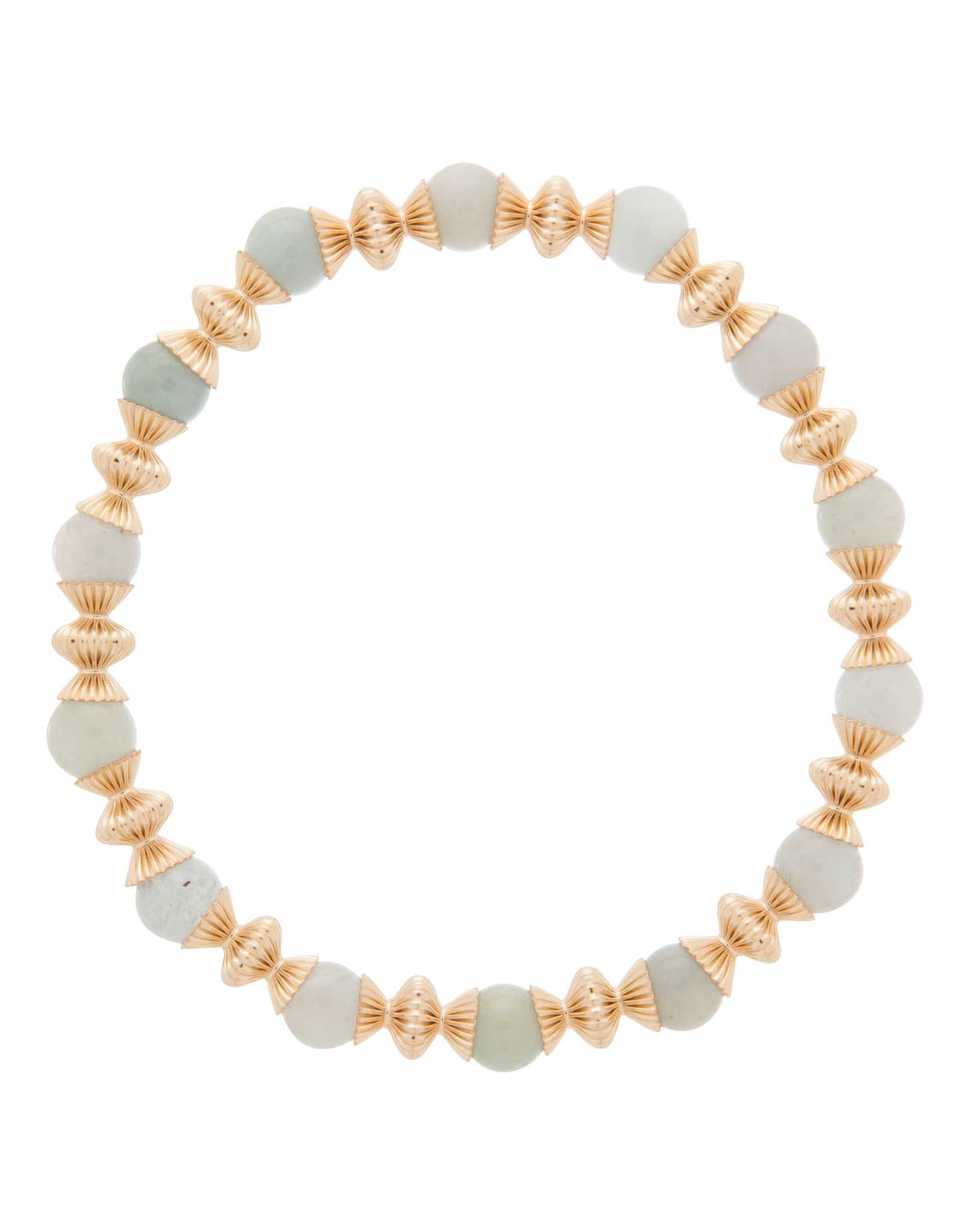 Loyality Gold 6mm Brace Aquamarine
