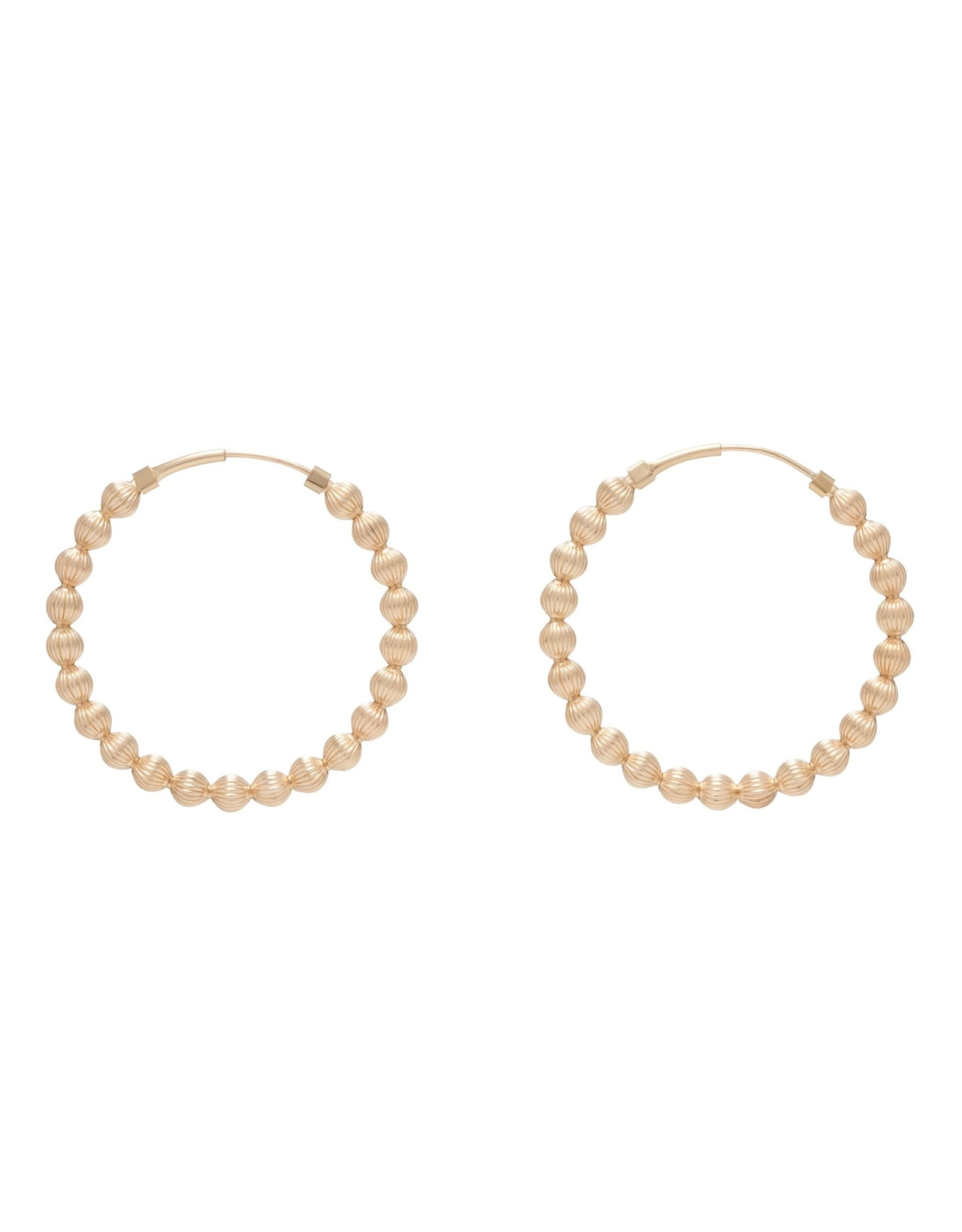 """Endless Gold 1.25"""" Hoop 4mm Dignity Gold"""