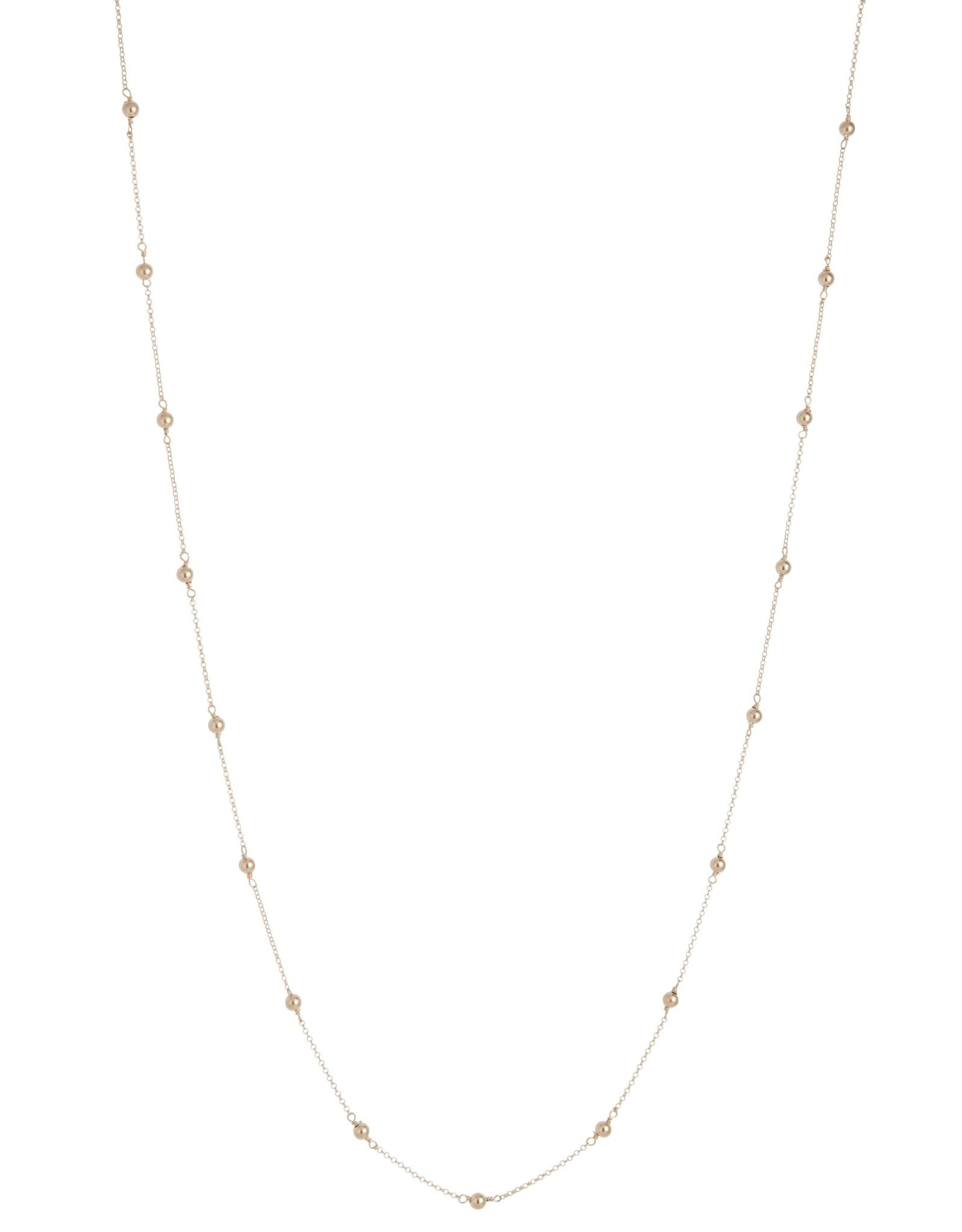 "41"" Neck Simplicity Chain Gold 4mm Bead Gold"